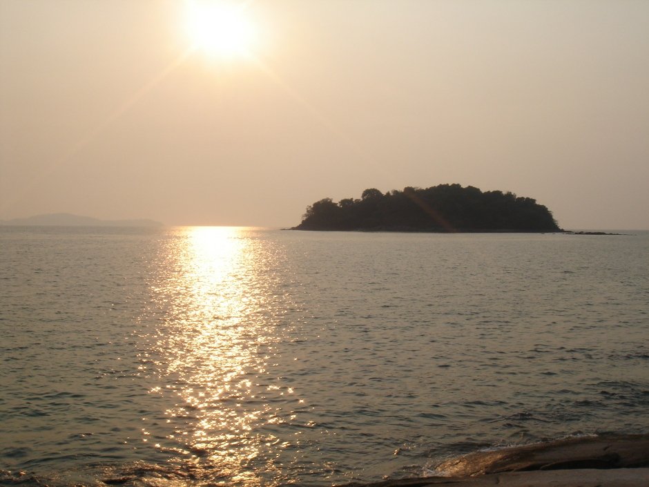 From Shan Maw - swimmable to the island.